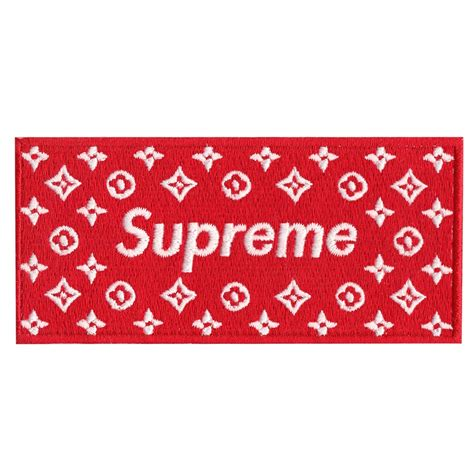 supreme logo supreme lv box logo iron on applique patch
