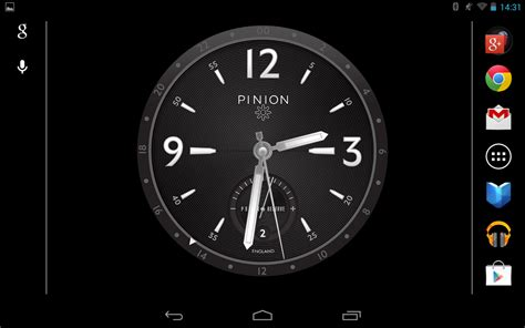 android clock pinion desk clock android apps on play