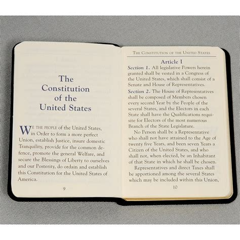 the constitution of the united states books mini united states constitution book palm sized for the