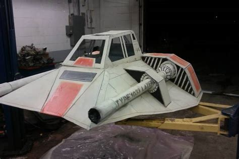 sw boat diy guy creates a realistic star wars sled out of cardboard