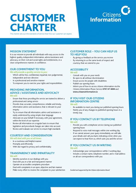 customer care charter template charter images