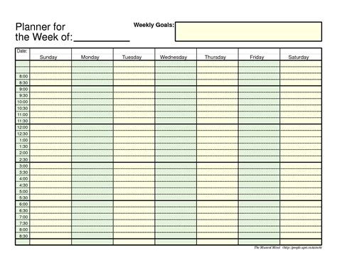 hourly calendar template excel hourly calendar template excel for cost free