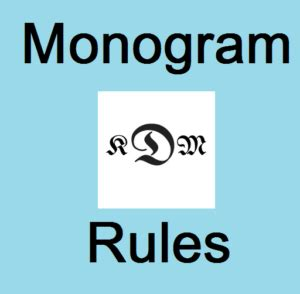 What is a Monogram   Guidelines & Simple Placement rules