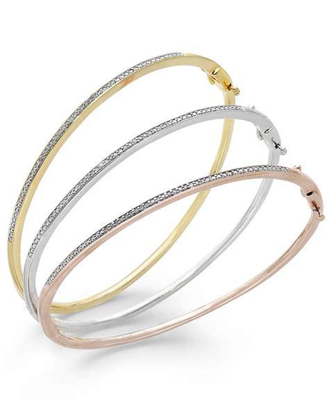 macy s bangle bracelet trio in 14k gold and 14k