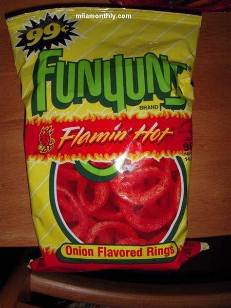 flamin hot funyuns potato chip review funyuns flaming hot miia monthly