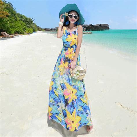 Dress Motif Manis 15 inspirasi dress pantai dengan berbagai motif yang