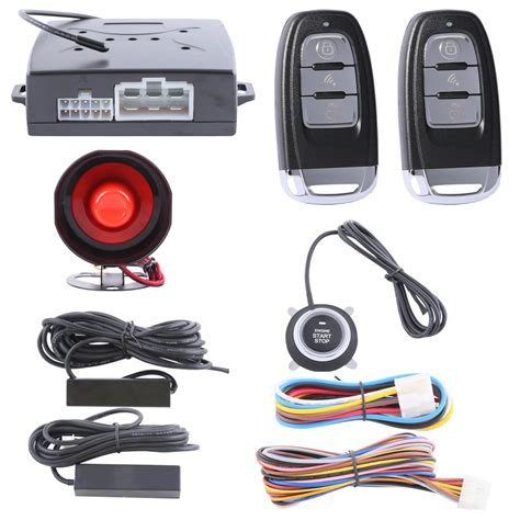 Alarm Motor Smart Key high security smart key car alarm kit with remote engine start stop push button start stop