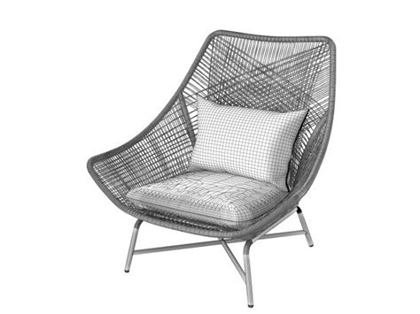 west elm huron lounge chair huron lounge chair 3d model west elm