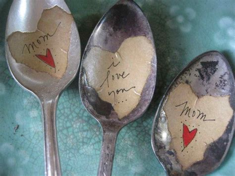 i love vintage i love you mom vintage plant and garden spoon markers