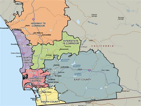 san diego county map san diego real estate and market trends