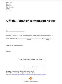 Rental Termination Letter To Tenant by Pdf End Of Tenancy Letter Template Tenancy
