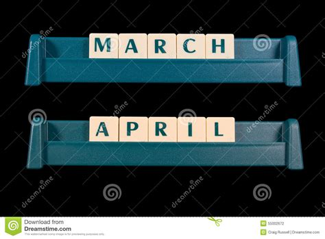 5 Letter Words Made From plastic letter tiles words include march and april stock