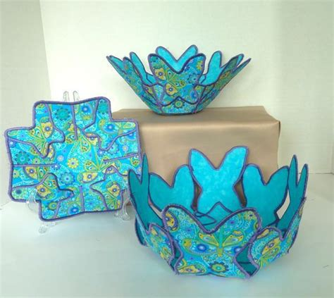 pattern for fabric bowls butterfly fabric bowls pattern sewing projects