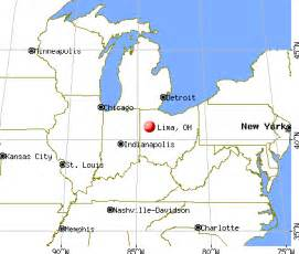 Lima Ohio Map by Lima Ohio Oh 45801 45805 Profile Population Maps