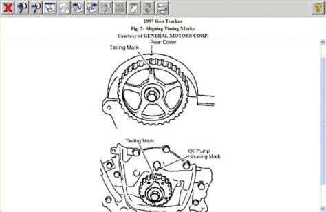 1997 geo tracker timing: engine mechanical problem 1997