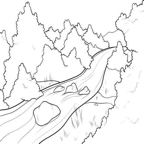imagenes de rios faciles para dibujar dibujos para colorear de paisajes con rios