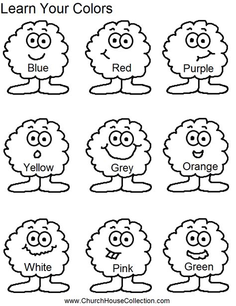 Church House Collection Blog Learn Your Colors For Learning Coloring Pages For Preschool