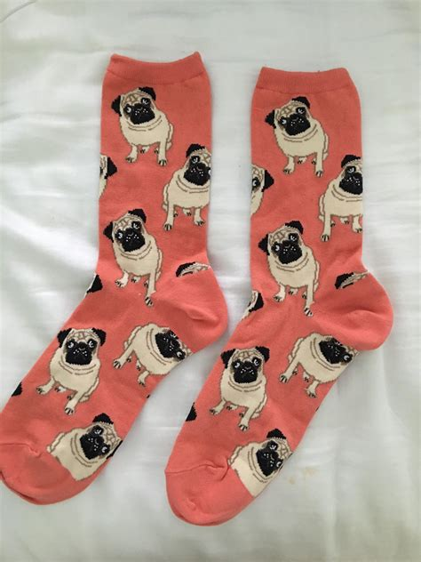 socks with pugs on them pug socks from thebeardedbee us accessories