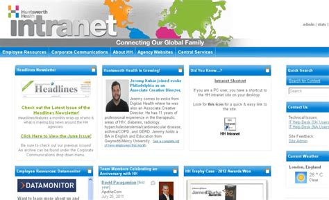 homepage design tips hhna s colorful intranet design engages healthcare employees