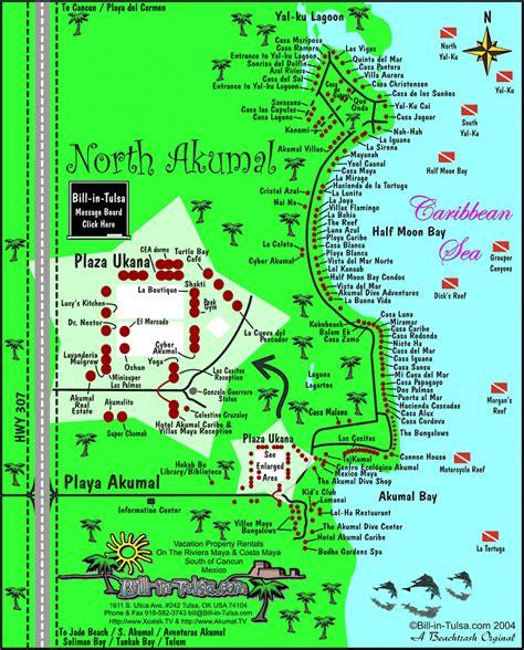 akumal resort hotel map map of akumal and akumal bill in tulsa