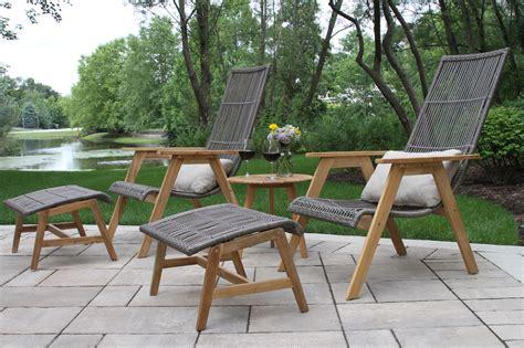 outdoor interiors tna2000 20 in round teak outdoor accent teak hardwood wicker basket loungers 2pk