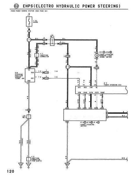 electric wiring for a power steering diagram