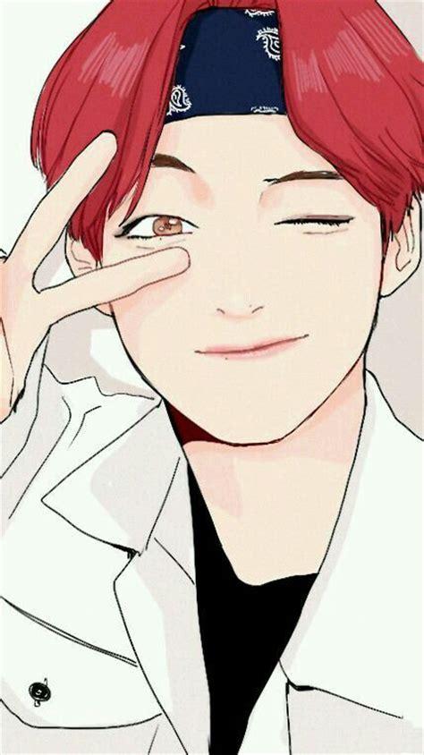 V Anime Fanart by Pin De Tayungs2 Em Tae Tae Bts Bts Fans