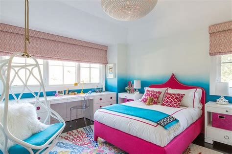 hot pink and turquoise bedroom hot pink moroccan bed with turquoise throw contemporary girl s room