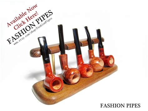 Tobacco Pipe Rack by 5 Tobacco Pipes Rack Stand Hold Display Wood Pipe Rack