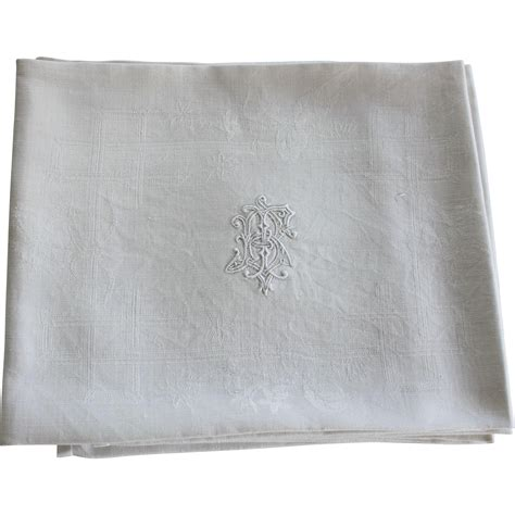 monogrammed linen napkins six antique french linen monogrammed napkins great