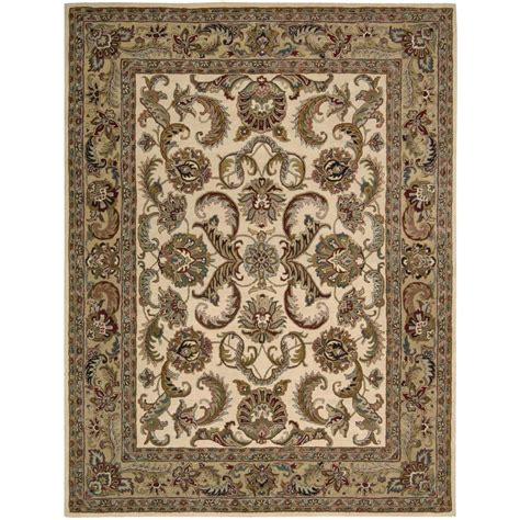 Area Rugs Overstock Nourison Overstock India House Ivory Gold 8 Ft X 10 Ft 6 In Area Rug 652393 The Home Depot