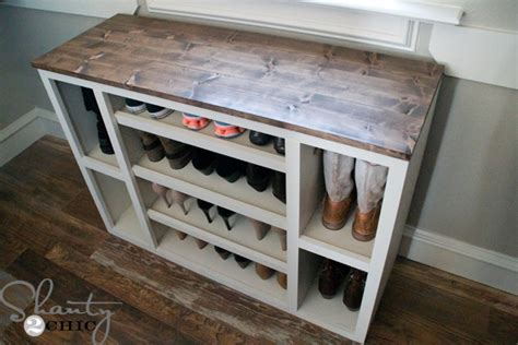Cleaning Painted Kitchen Cabinets diy shoe storage cabinet shanty 2 chic