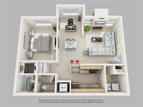Small One Bedroom Apartment Designs Handsome 1 Bedroom Apartment Design 83 For Your Small Bedroom Design With 1 Bedroom Apartment