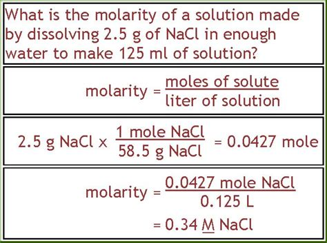 Exles Of Biology Lab Reports by Calculating Molarity