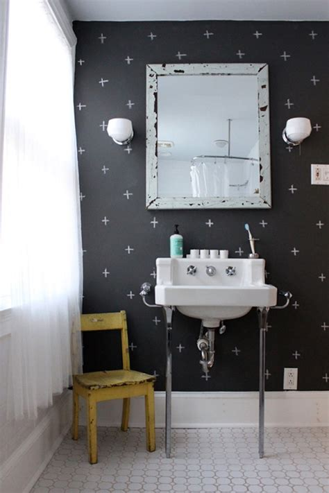 Black White Bathroom Wallpaper by Black And White Bathroom Wallpaper 2017 Grasscloth Wallpaper