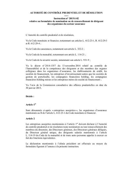 Formulaire Credit Formation Dirigeant 2015 Assurances Formulaire De Nomination Ou De Renouvellement De Dirigean