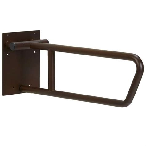 Swing Up Grab Bar by Freedom Swing Up Toilet Grab Bar Bronze Finish 30 Quot X 1 1 4 Quot