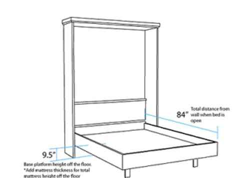 Free Murphy Bed Plans by Woodwork Plans Size Murphy Bed Pdf Plans