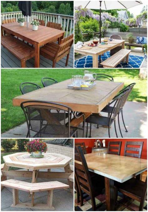 outdoor dining room 18 diy outdoor dining room tables