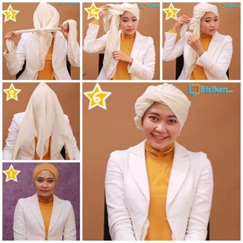 tutorial hijab turban resmi hijab cantik cara memakai jilbab turban