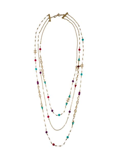 Faux Pearl Chain chanel multistrand faux pearl chain necklace necklaces