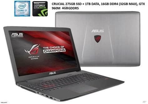 15 6 Asus Republic Of Gamers I7 Gaming Laptop Review laptops notebooks asus republic of gaming gl552 6th i7 15 6 quot fhd 256gb ssd 1tb