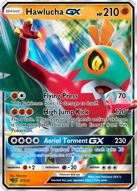 card template gx hawlucha gx custom card by kryptixdesigns on