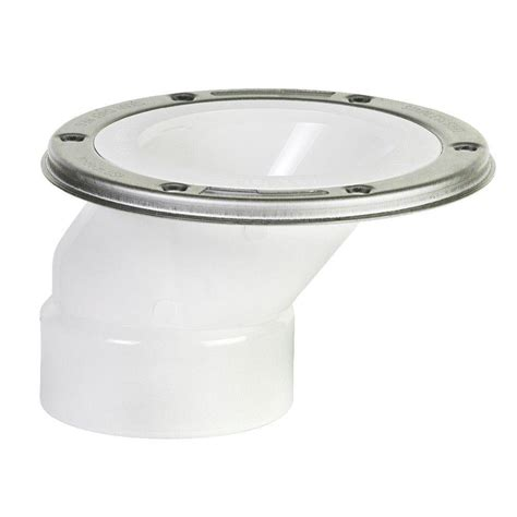 Offset Closet Flange by 3 In X 4 In Pvc Adjustable Metal Ring Dwv Offset Closet