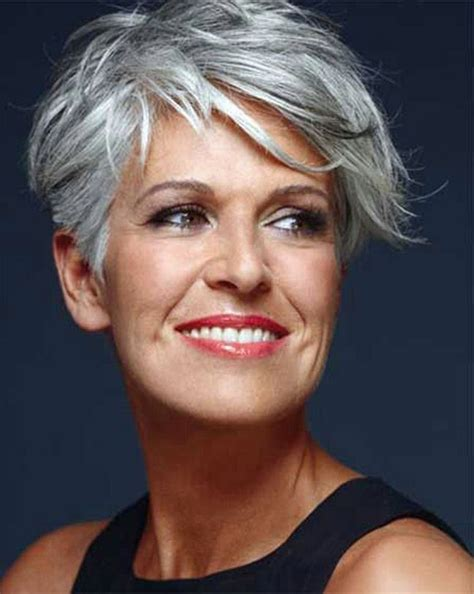 40 year old woman with short grey hair short haircuts for women over 60 with fine hair cute