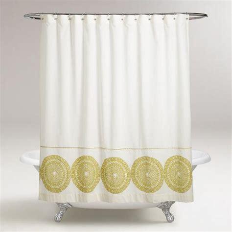 moss green shower curtain moss green lydia medallion shower curtain world market