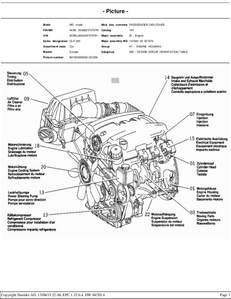 Mercedes Benz M112 Engine Epc