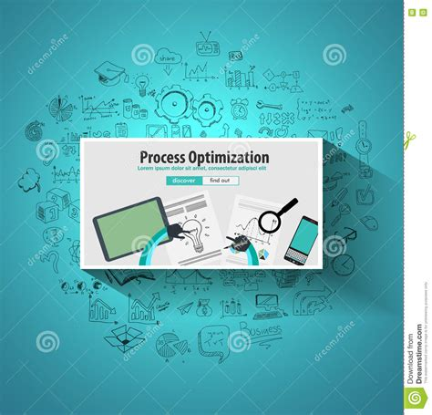 layout process optimization pdca cartoons illustrations vector stock images 217
