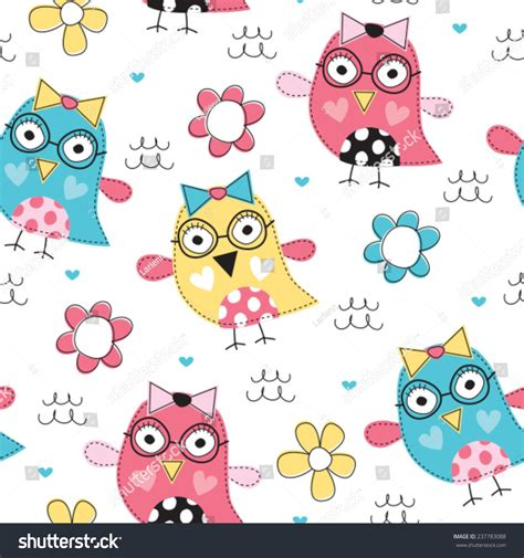 vector owl tutorial colorful owl pattern vector illustration stock vector