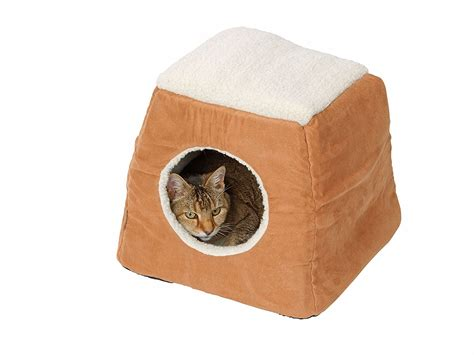 house of paws house of paws suede sheepskin 2 in 1 cat bed tan lowest prices guaranteed free
